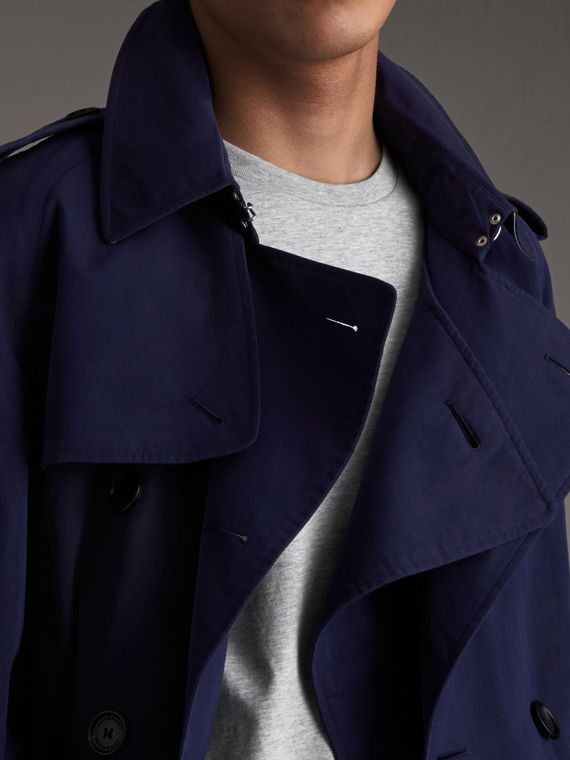 Unisex Tropical Gabardine Trench Jacket in Blueberry - Men | Burberry - cell image 3