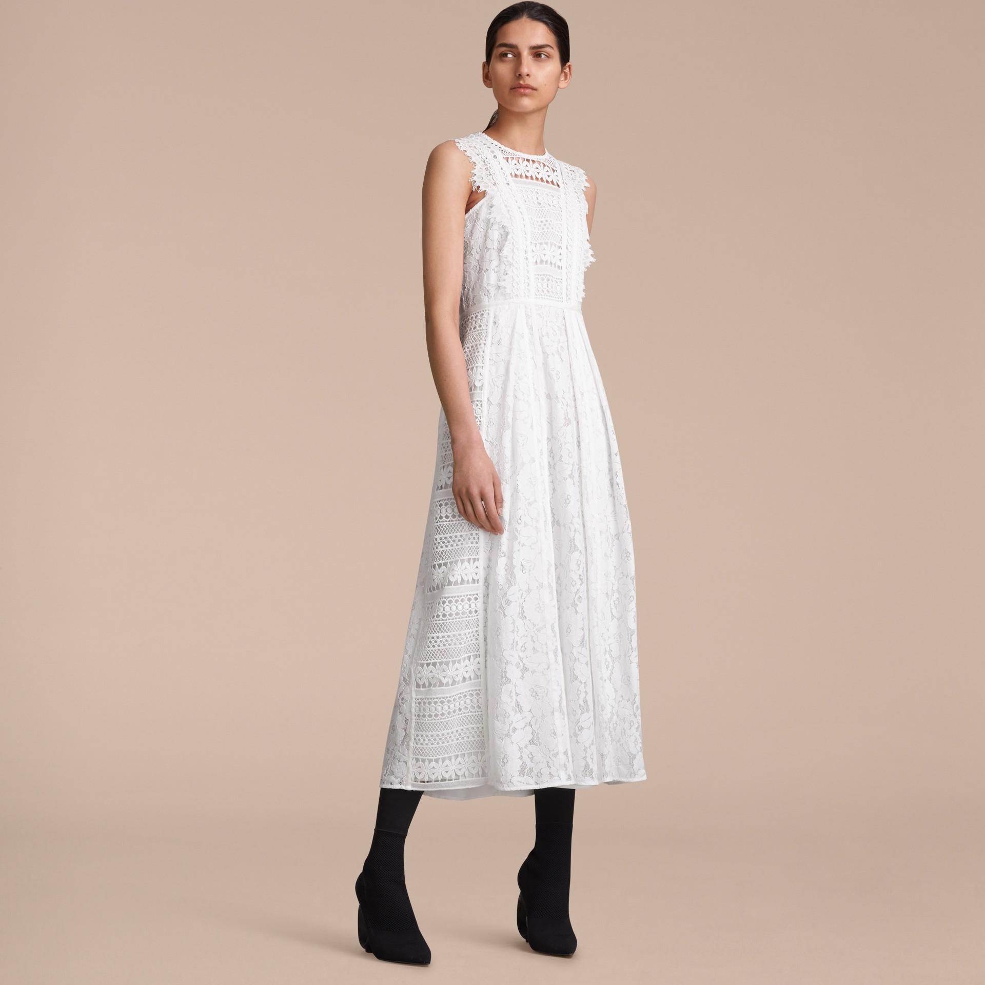 Sleeveless Macramé Lace Dress - gallery image 6