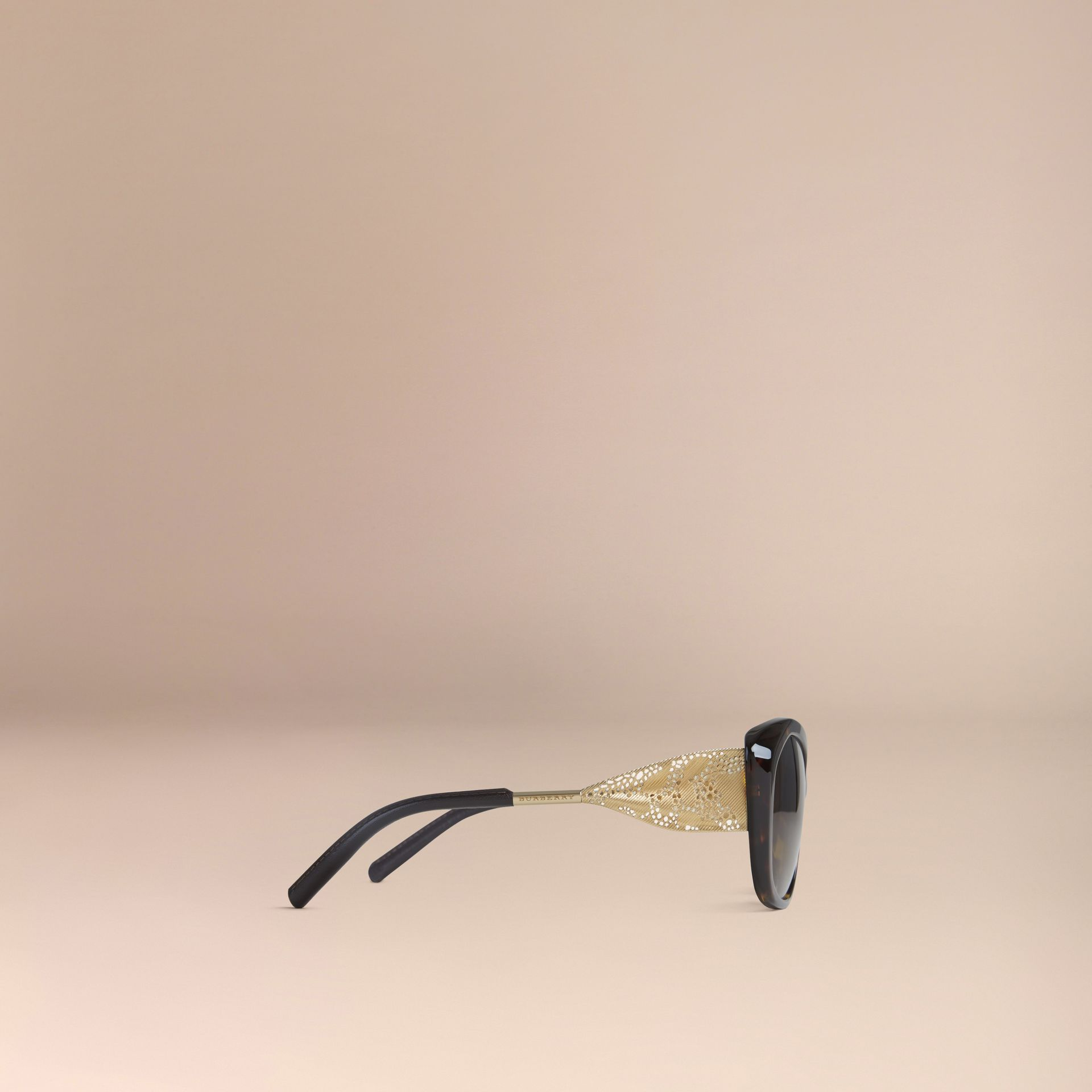 Tortoise shell Gabardine Lace Collection Square Frame Sunglasses Tortoise Shell - gallery image 4