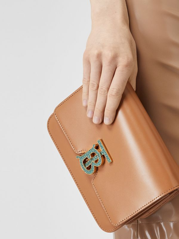 Small Leather TB Bag in Flaxseed - Women | Burberry - cell image 2