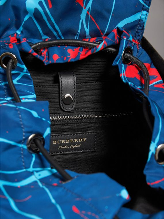 Grand sac The Rucksack à imprimé Splash (Marine/orange) | Burberry Canada - cell image 3