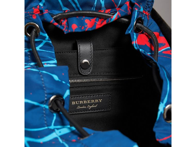 The Large Rucksack in Splash Print in Navy/orange - Men | Burberry - cell image 4