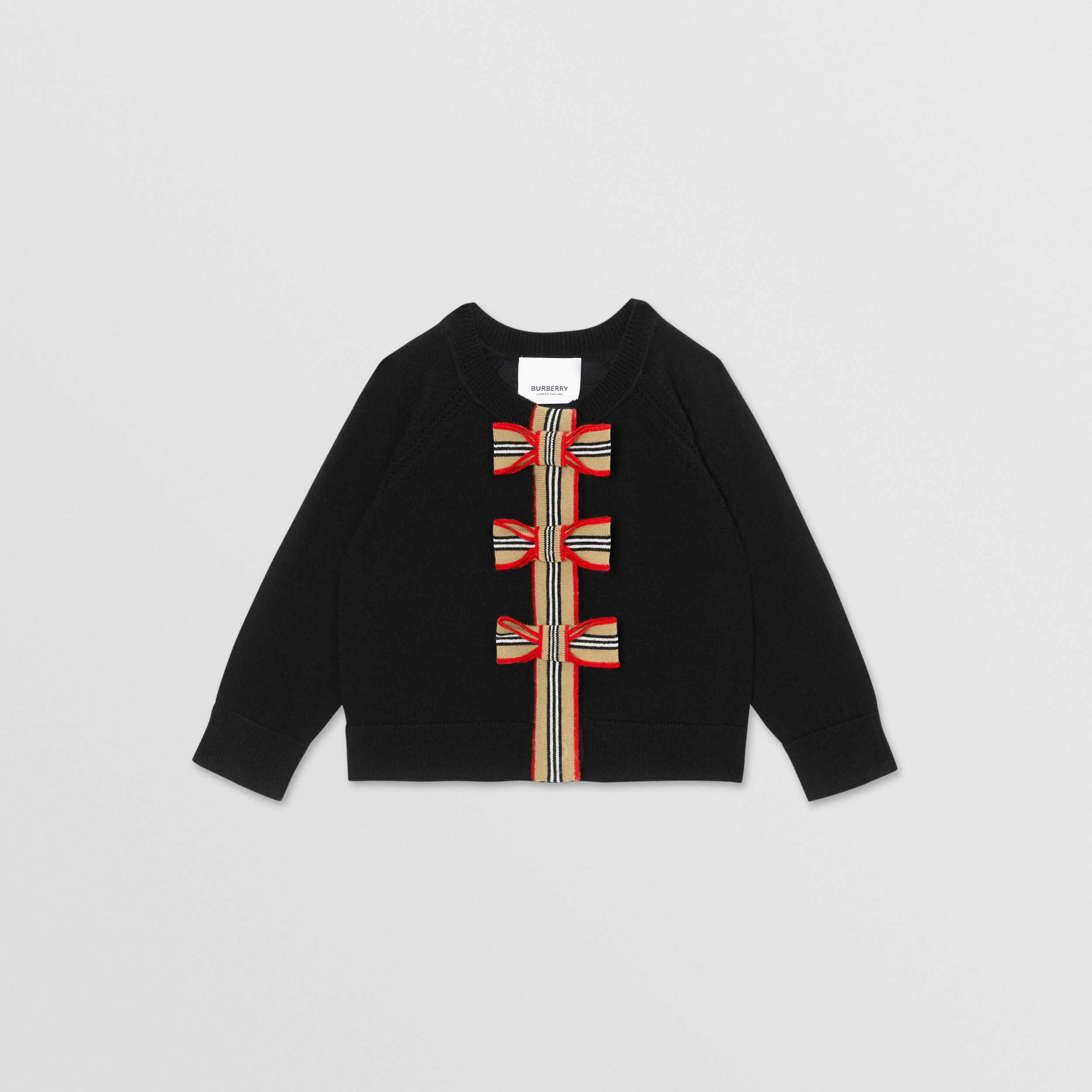 Icon Stripe Trim Merino Wool Two-piece Set - Children | Burberry - 1