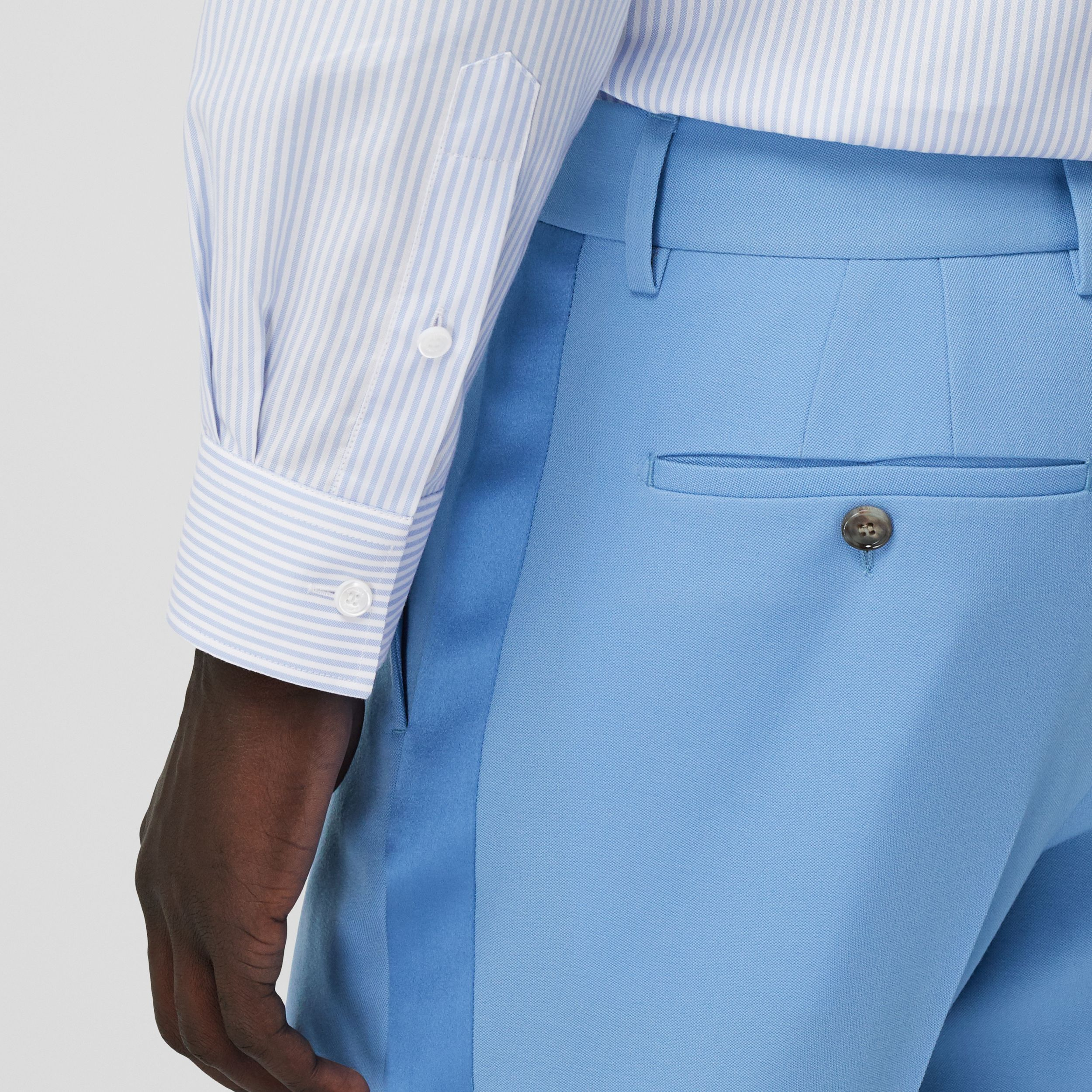 Classic Fit Wool Tailored Trousers in Vivid Cobalt - Men | Burberry - 2