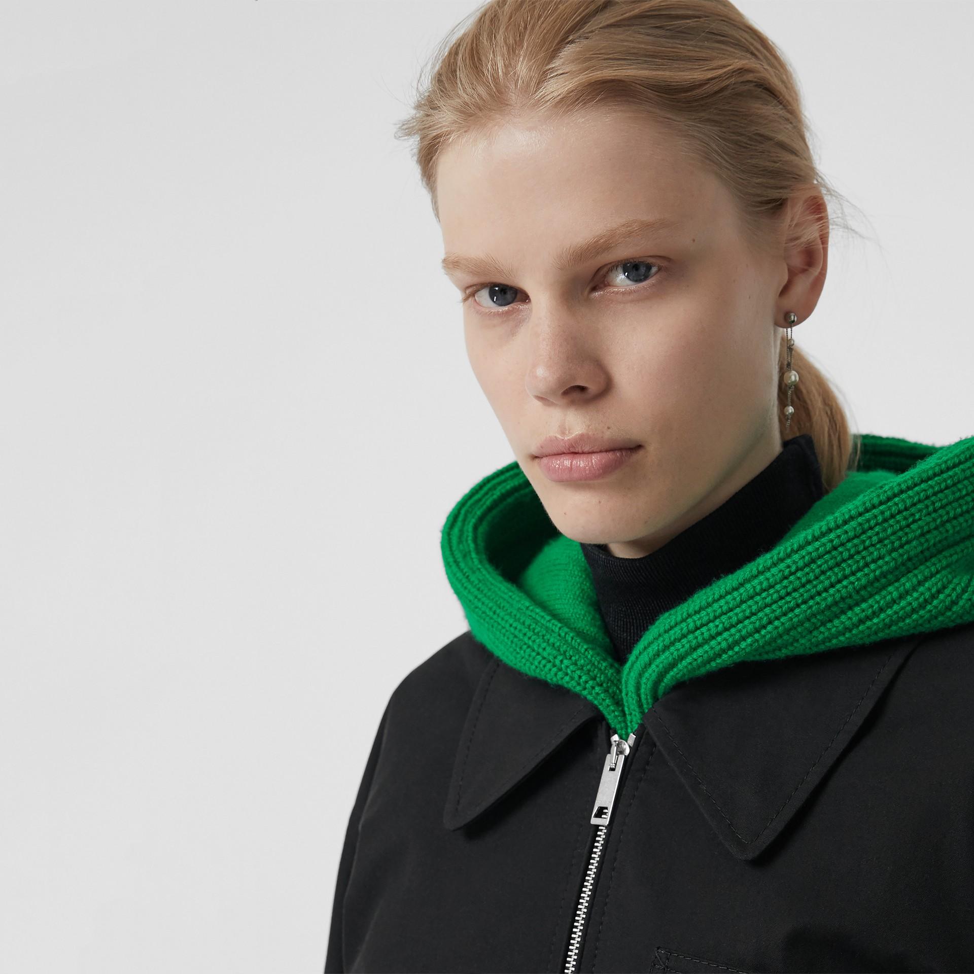 Tropical Gabardine Harrington Jacket in Black - Women | Burberry United Kingdom - gallery image 1