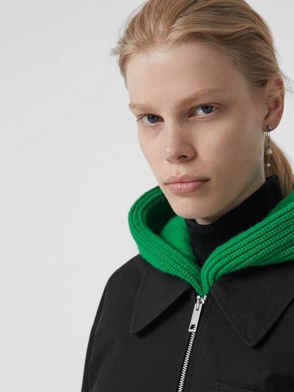 Tropical Gabardine Harrington Jacket in Black - Women | Burberry United Kingdom - cell image 1