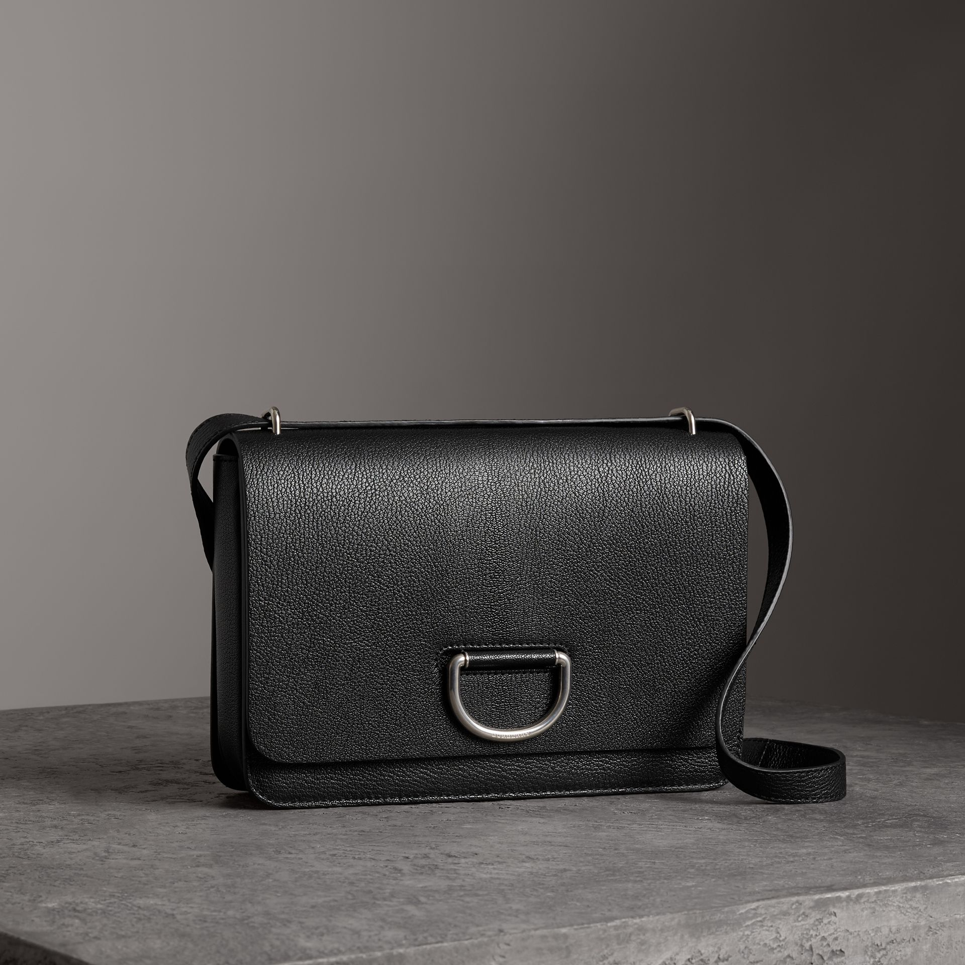 The Medium Leather D-ring Bag in Black - Women | Burberry - gallery image 6