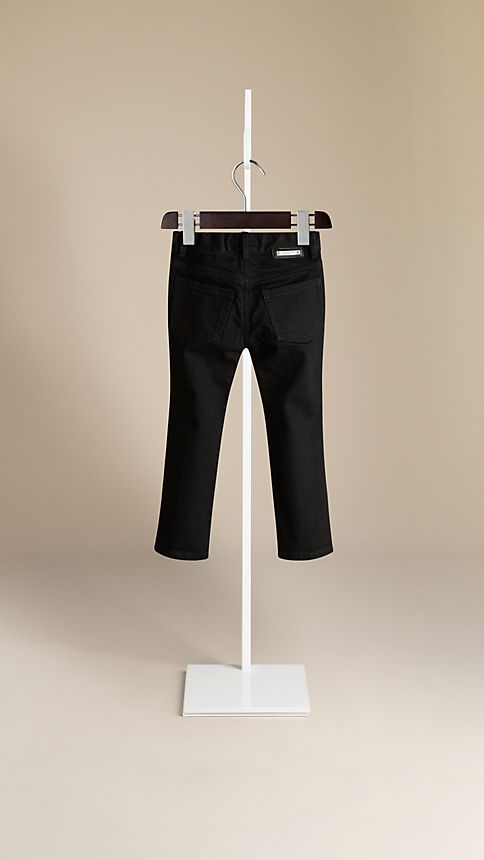 Black Skinny Fit Jeans - Image 2