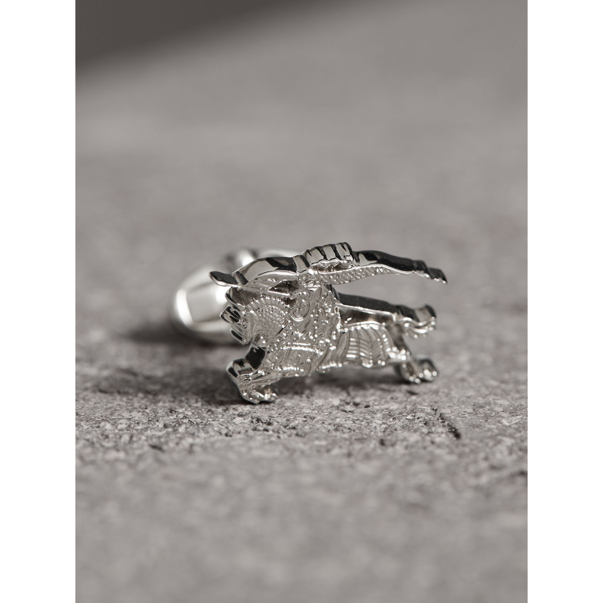 Equestrian Knight Cufflinks in Silver - Men | Burberry United States - gallery image 1
