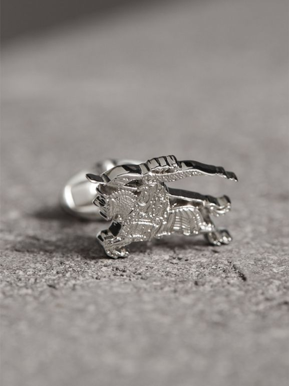 Equestrian Knight Cufflinks in Silver - Men | Burberry United States - cell image 1