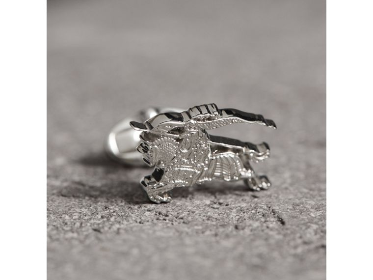 Equestrian Knight Cufflinks in Silver - Men | Burberry - cell image 1