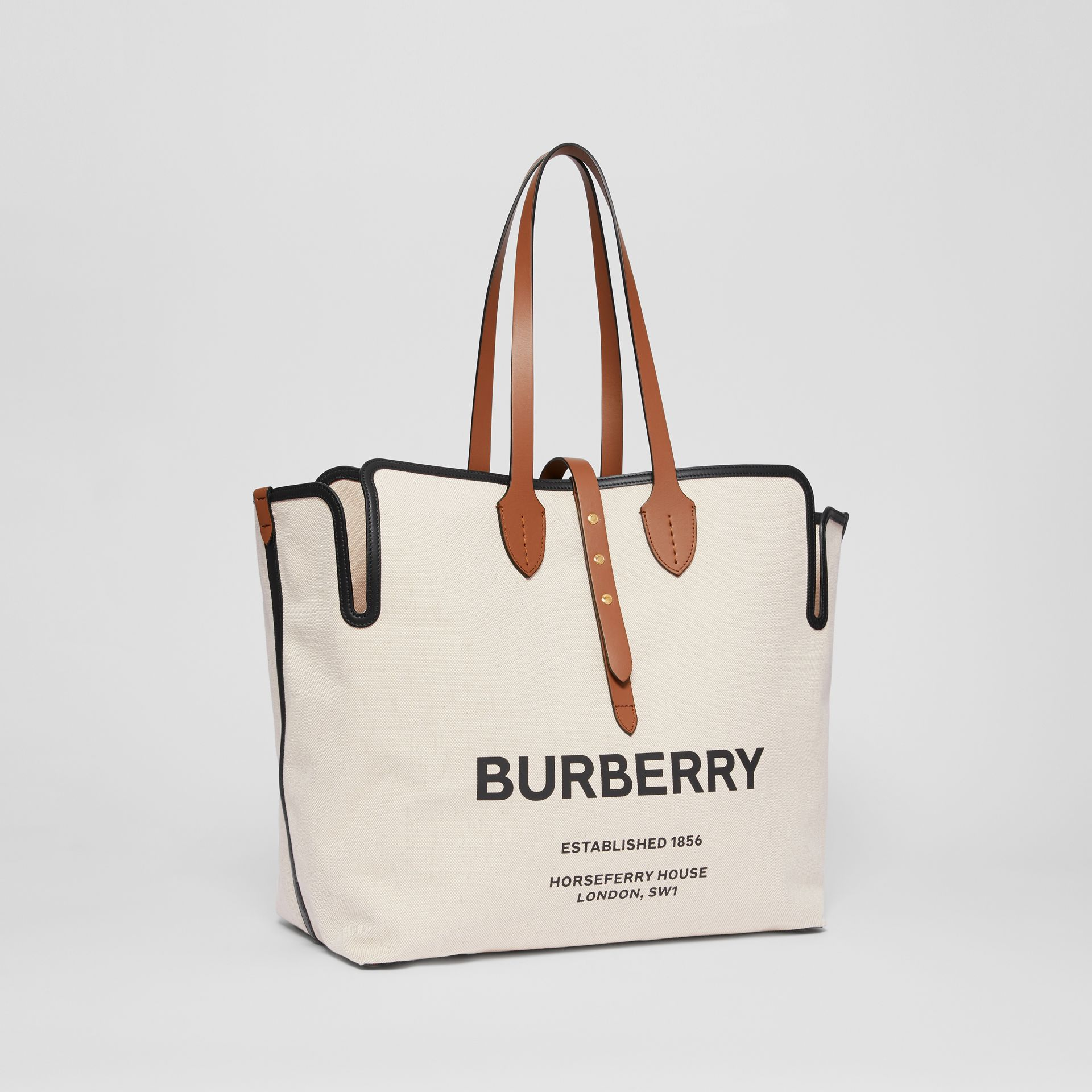 The Large Soft Cotton Canvas Belt Bag in Malt Brown - Women | Burberry - gallery image 6