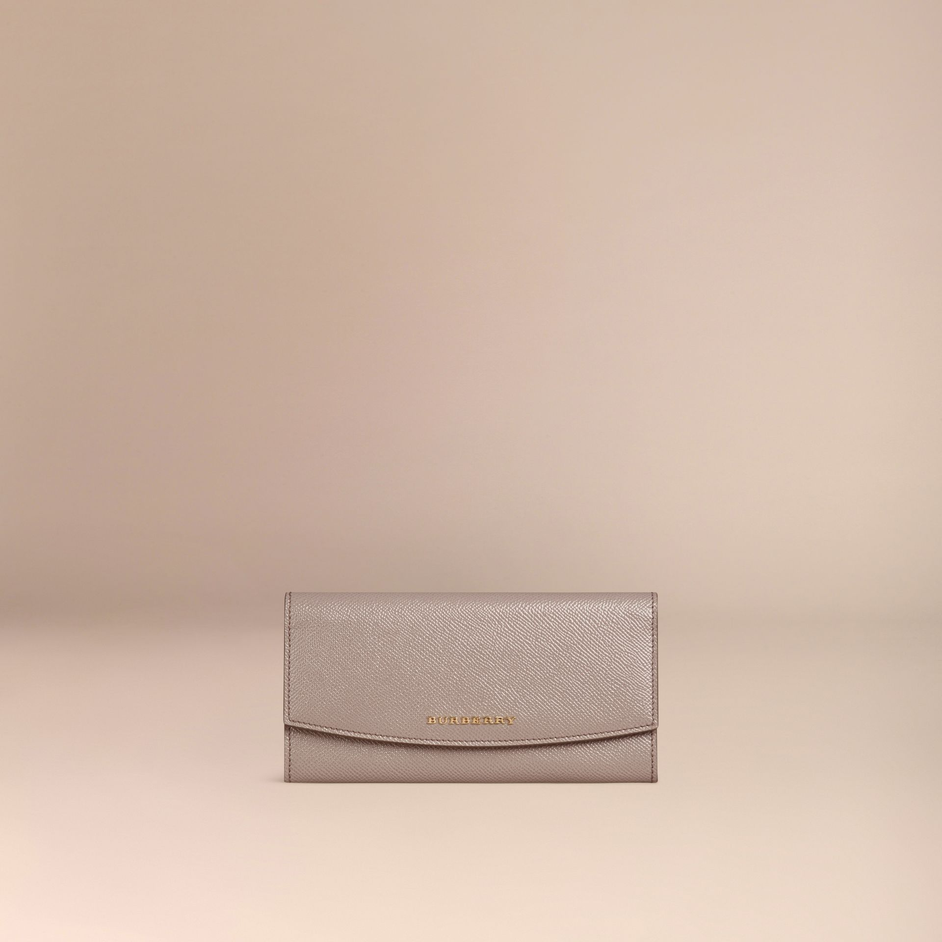 Pale grey Patent London Leather Continental Wallet - gallery image 3