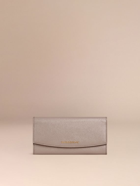 Pale grey Patent London Leather Continental Wallet - cell image 2