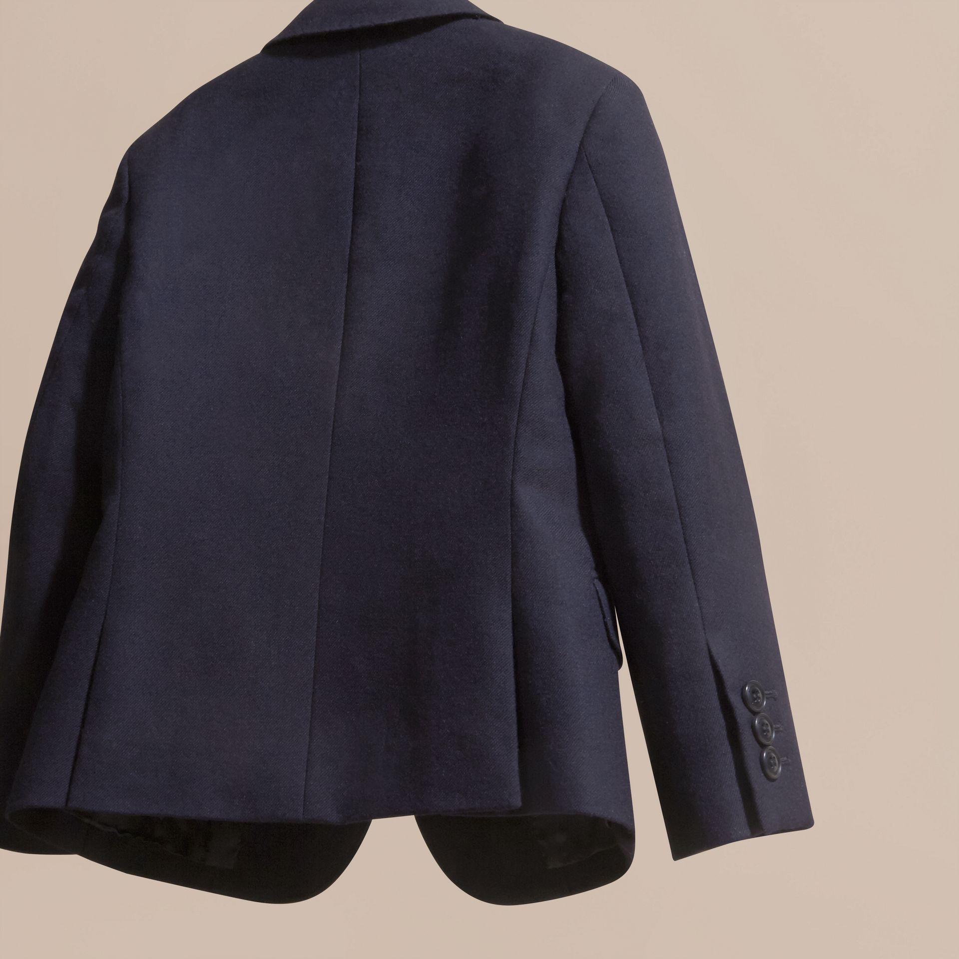 Navy Wool Blazer - gallery image 4