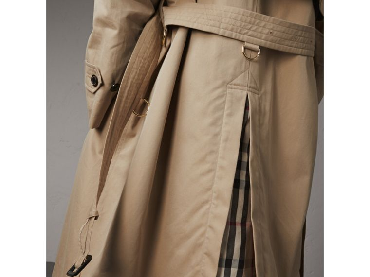Resin Button Cotton Gabardine Trench Coat in Honey - Women | Burberry United Kingdom - cell image 1