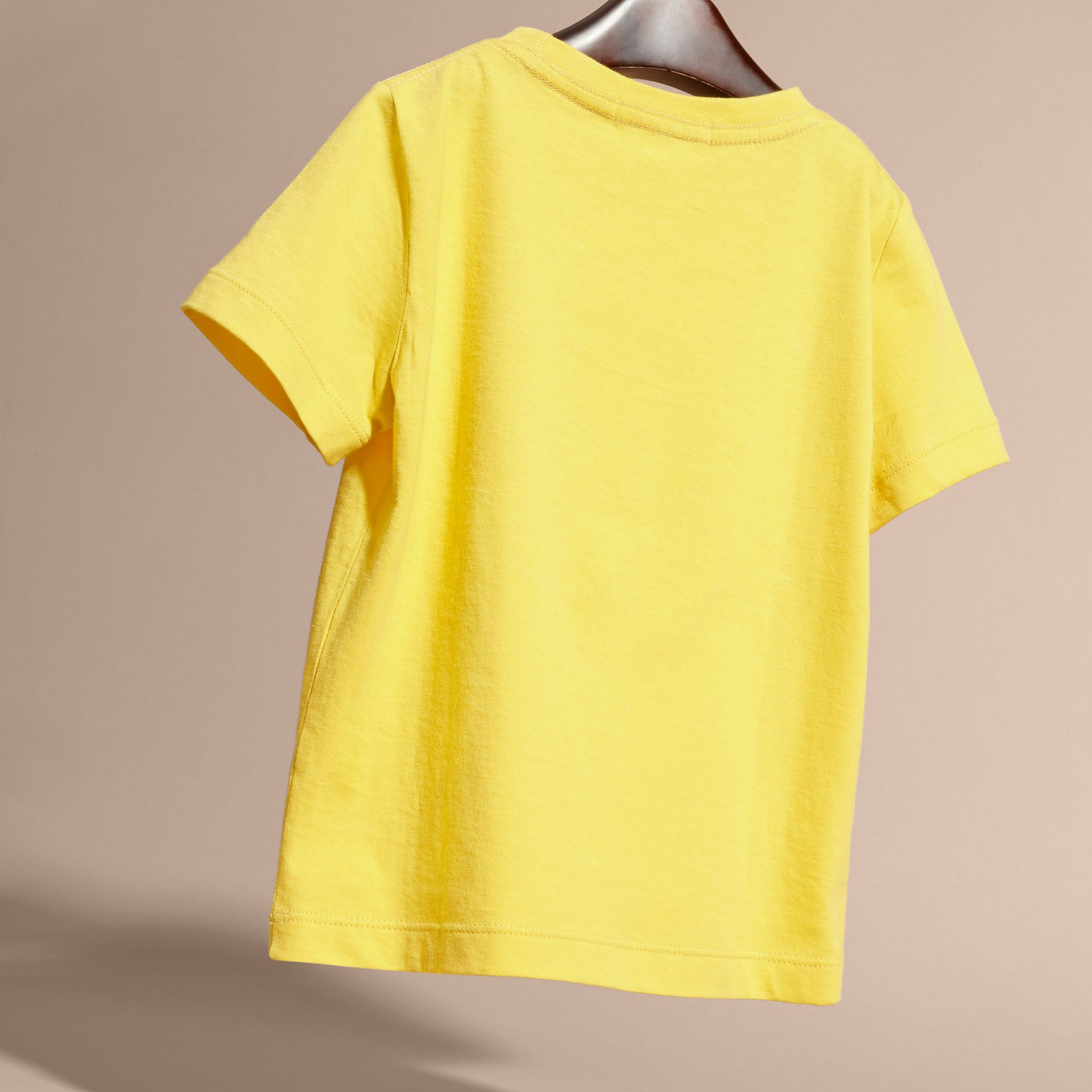 Bright yellow Check Pocket T-Shirt Bright Yellow - gallery image 4