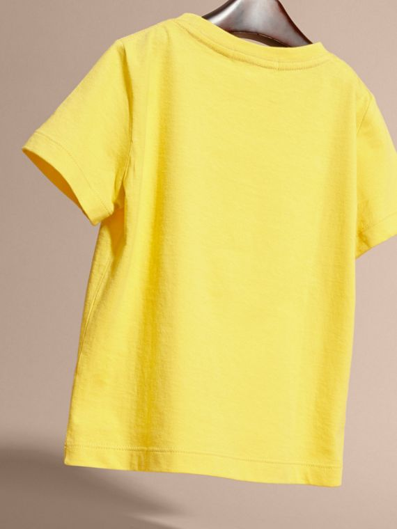 Bright yellow Check Pocket T-Shirt Bright Yellow - cell image 3