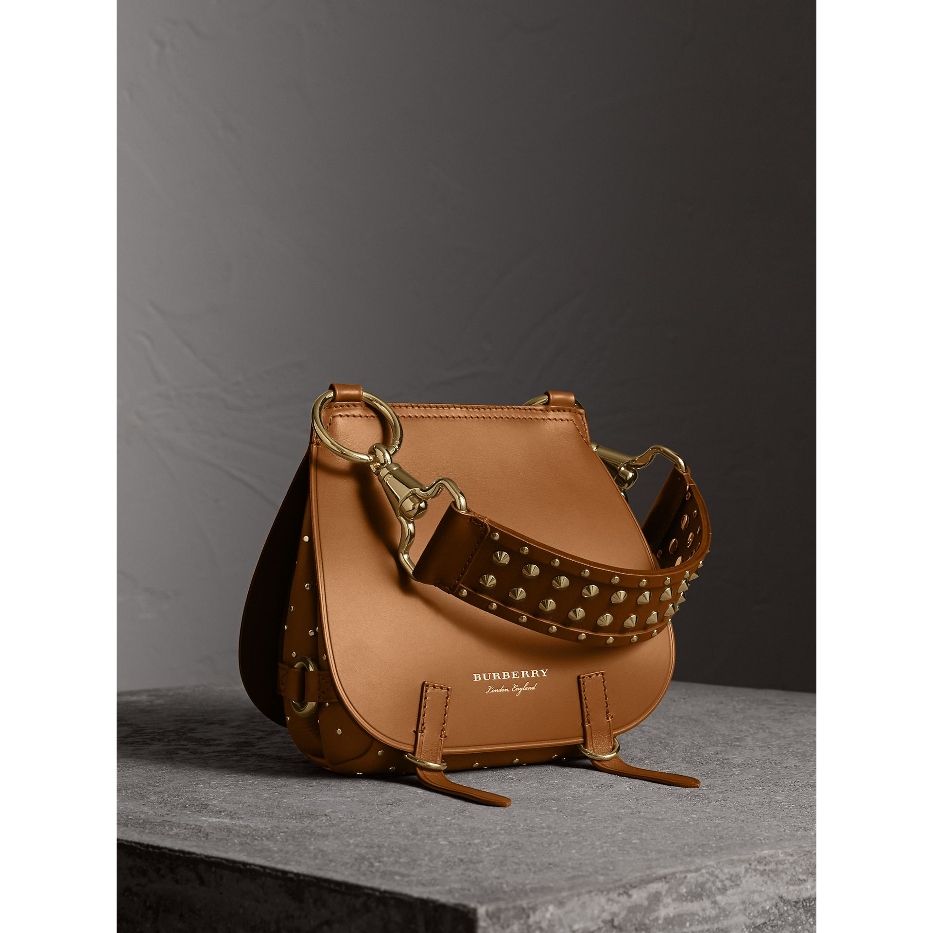 The Bridle Bag in Leather and Rivets in Tan - gallery image 1