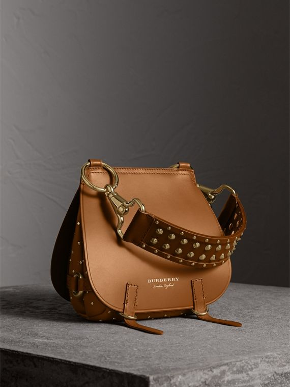 The Bridle Bag in Leather and Rivets in Tan - Women | Burberry