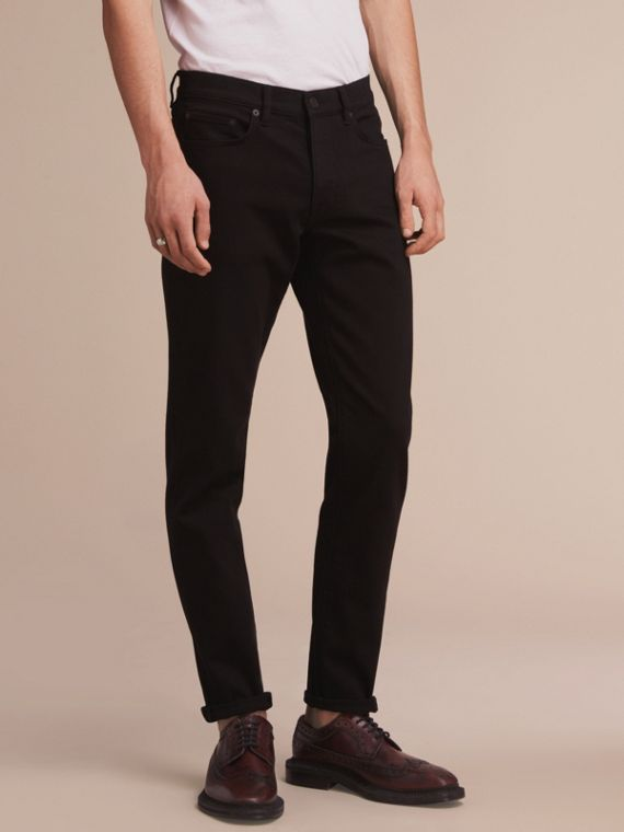 Relaxed Fit Stretch Jeans - Men | Burberry Australia