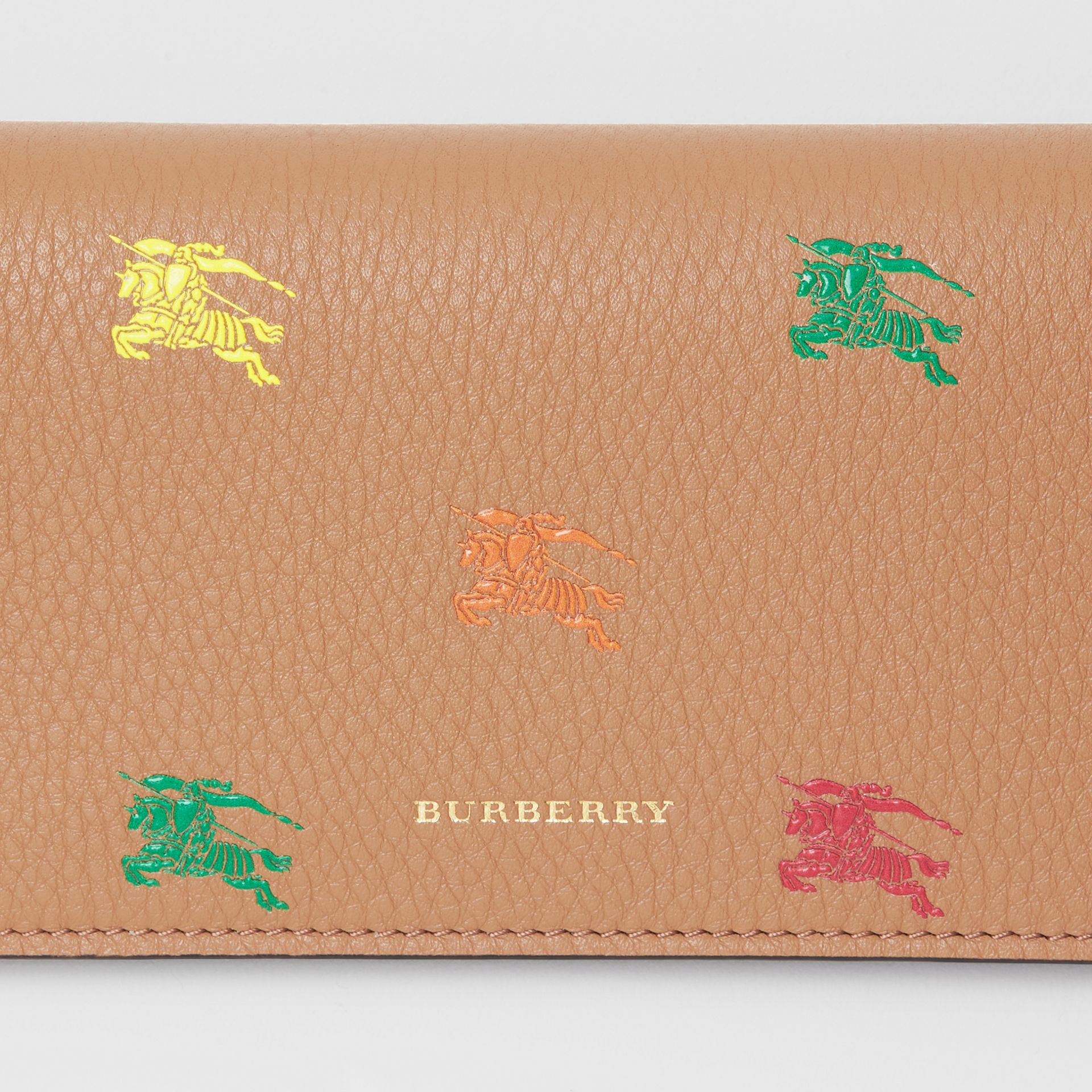 EKD Leather Phone Wallet in Light Camel - Women | Burberry Singapore - gallery image 1
