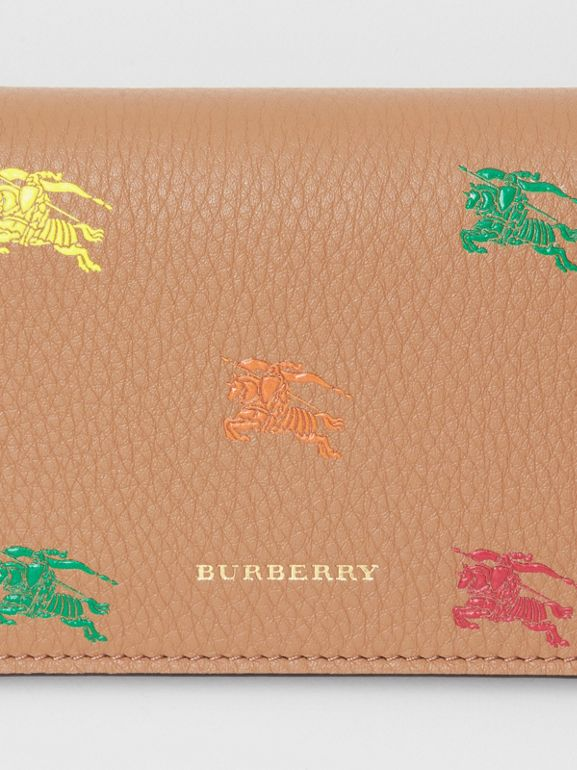 EKD Leather Phone Wallet in Light Camel - Women | Burberry Singapore - cell image 1