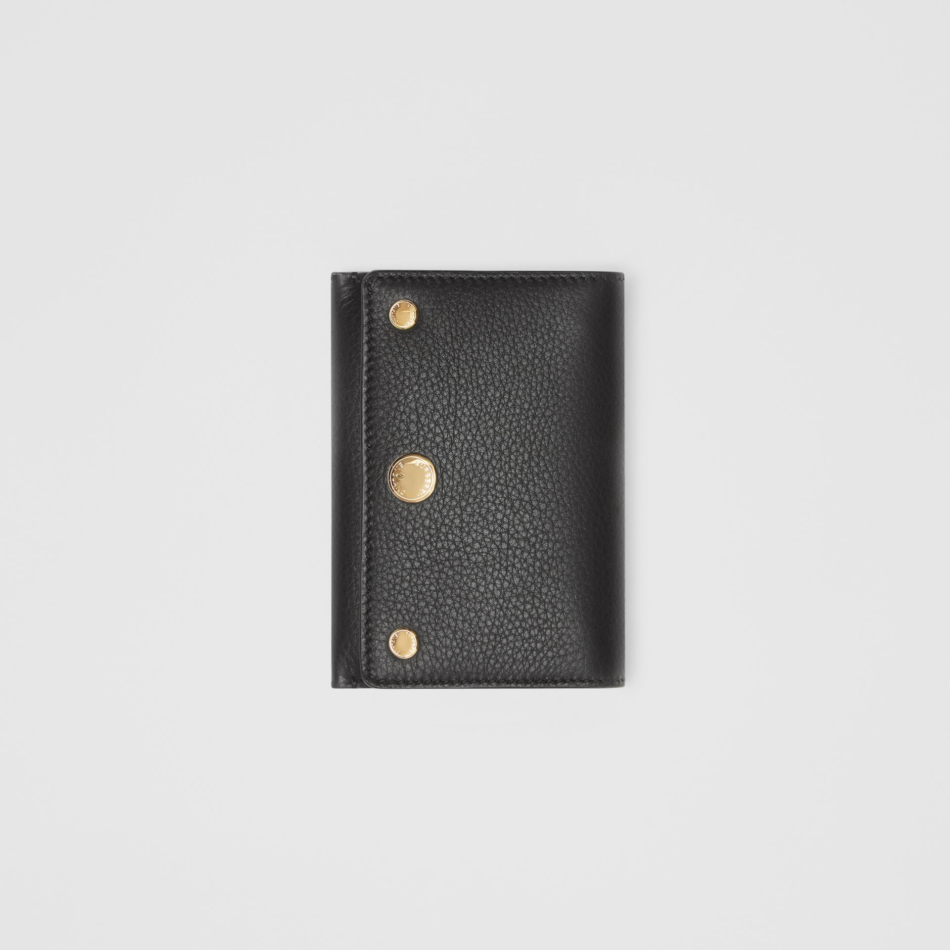Triple Stud Leather Folding Wallet in Black - Women | Burberry United States - gallery image 3
