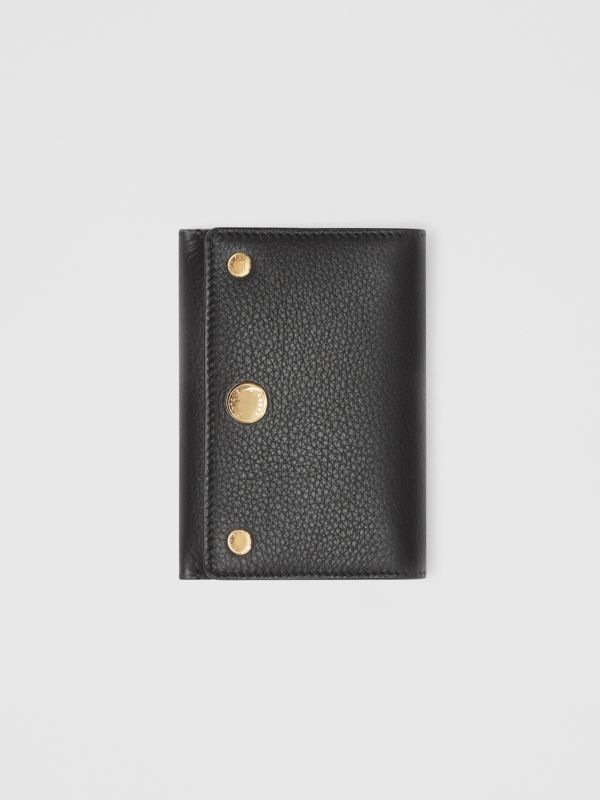 Triple Stud Leather Folding Wallet in Black - Women | Burberry - cell image 3
