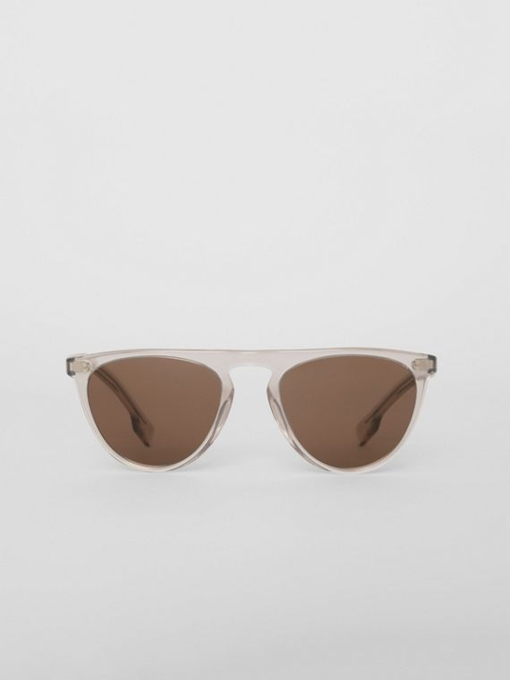 Keyhole D-shaped Sunglasses in Grey