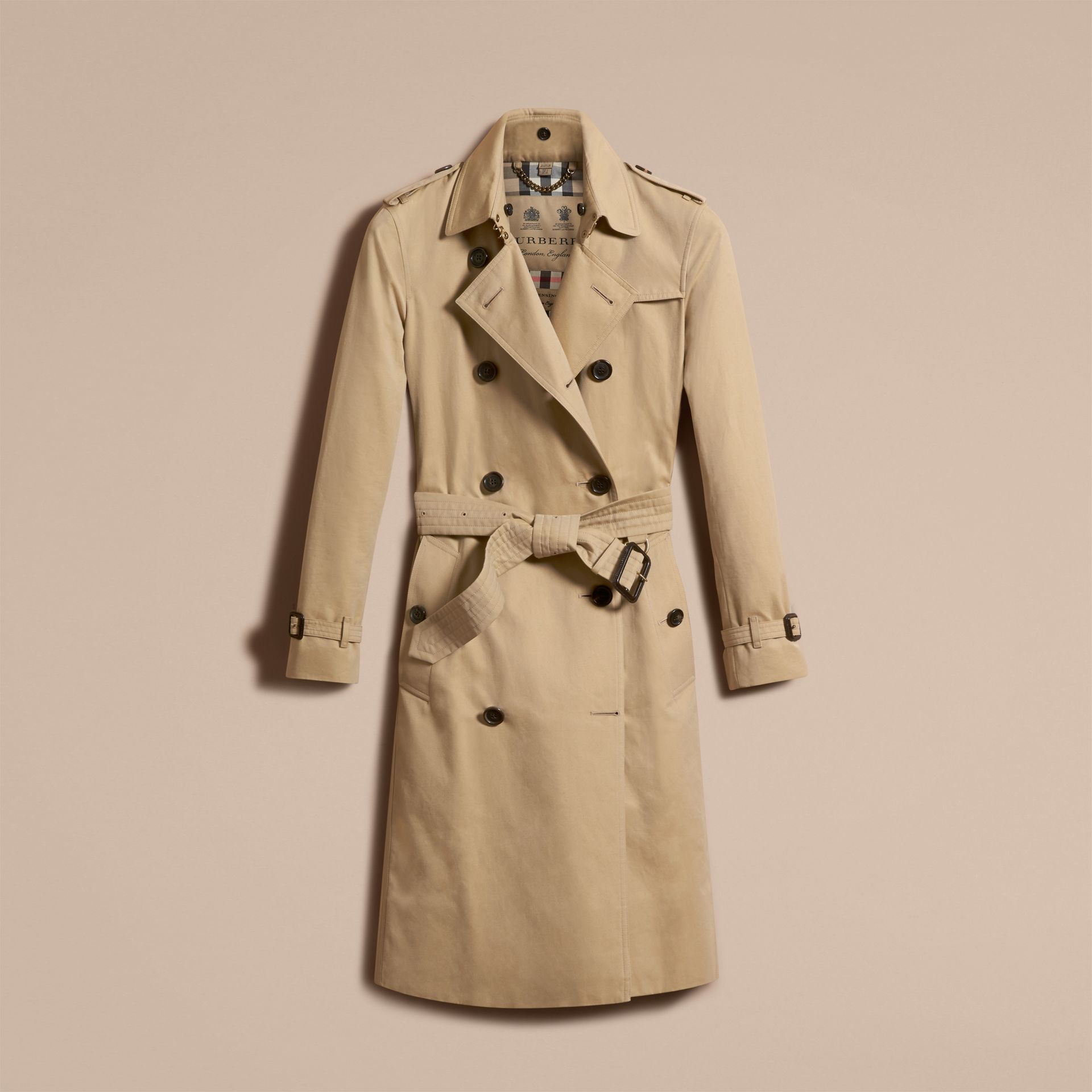 Honey The Kensington – Extra-long Heritage Trench Coat Honey - gallery image 4