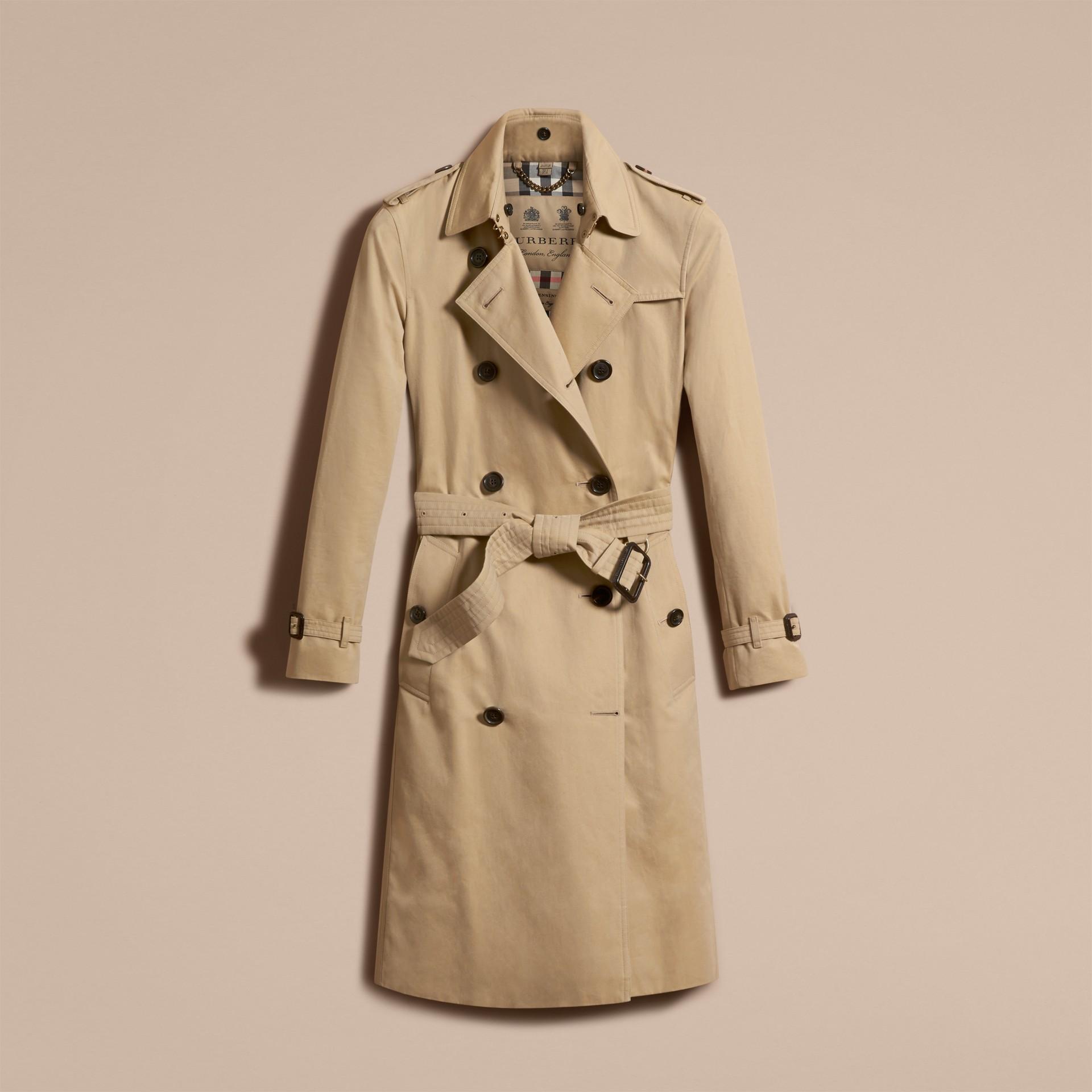 Miel The Kensington – Trench-coat Heritage ultra-long Miel - photo de la galerie 4