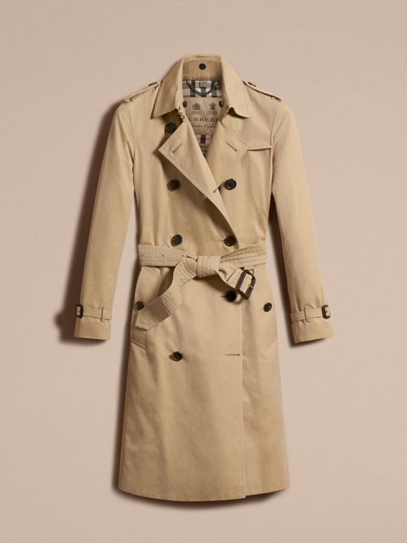 Honey The Kensington – Extra-long Heritage Trench Coat Honey - cell image 3
