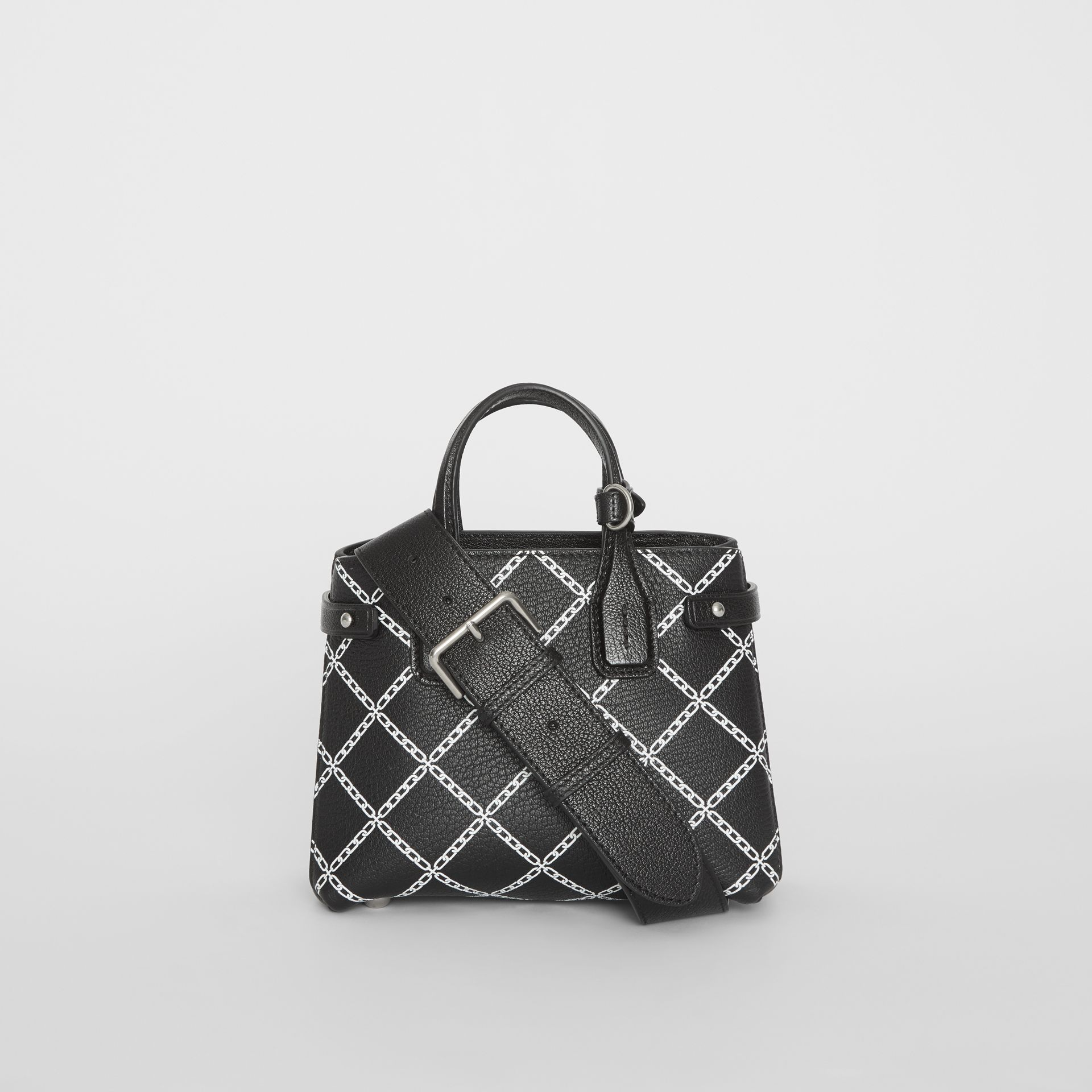 The Baby Banner in Link Print Leather in Black - Women | Burberry United Kingdom - gallery image 7