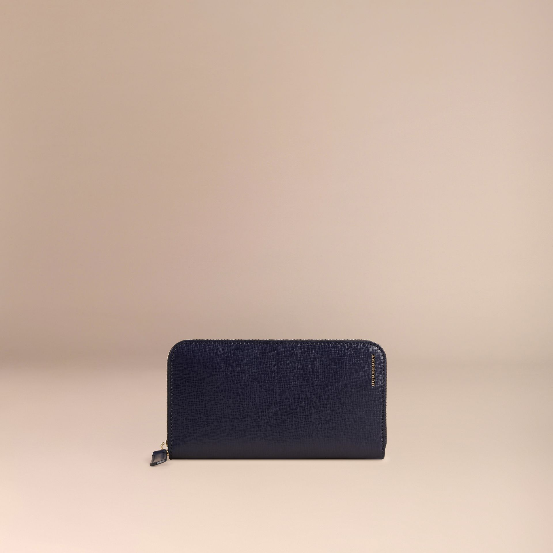 London Leather Ziparound Wallet Dark Navy - gallery image 3