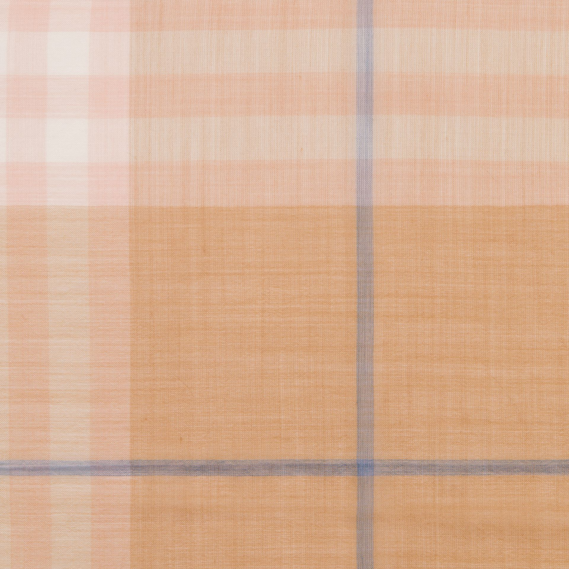 Lightweight Check Wool and Silk Scarf in Fawn - Men | Burberry United Kingdom - gallery image 1
