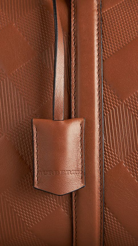 Tan The Medium Alchester in Embossed Check Leather - Image 6