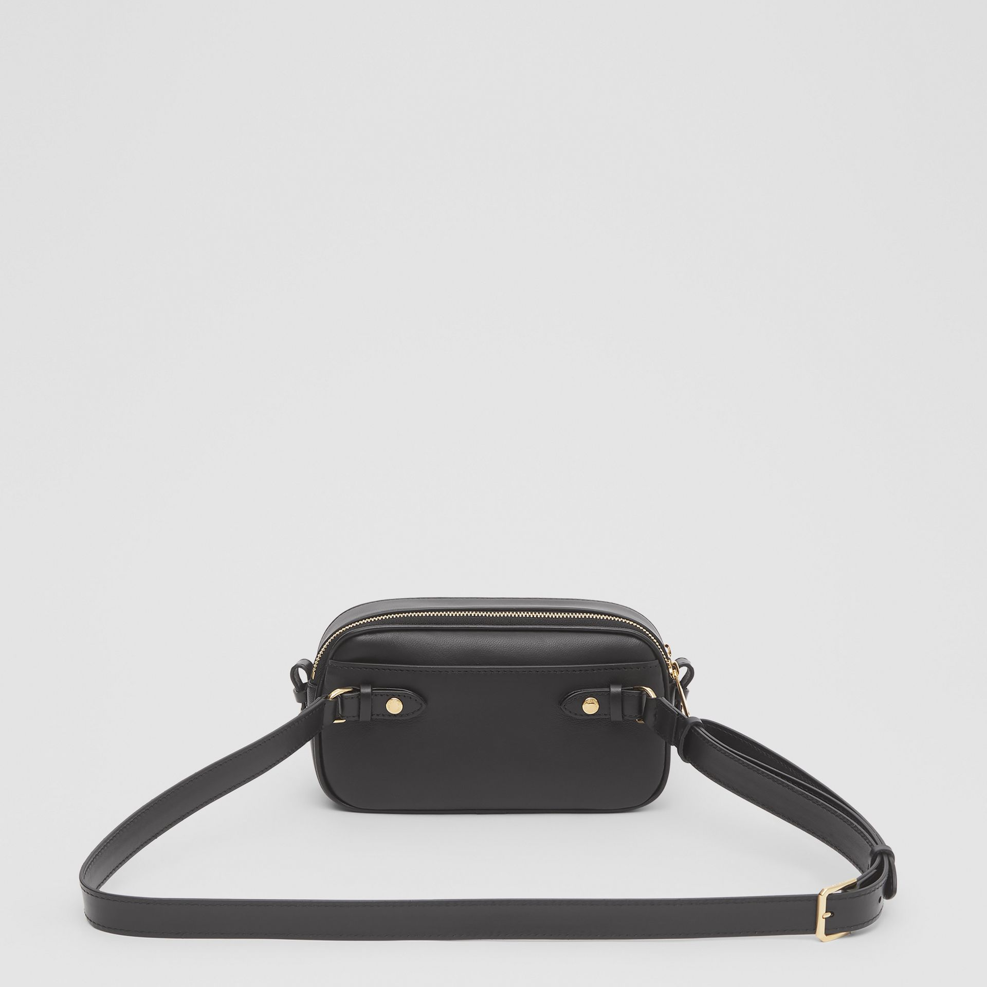 Mini Quilted Lambskin Camera Bag in Black   Burberry United Kingdom - gallery image 9