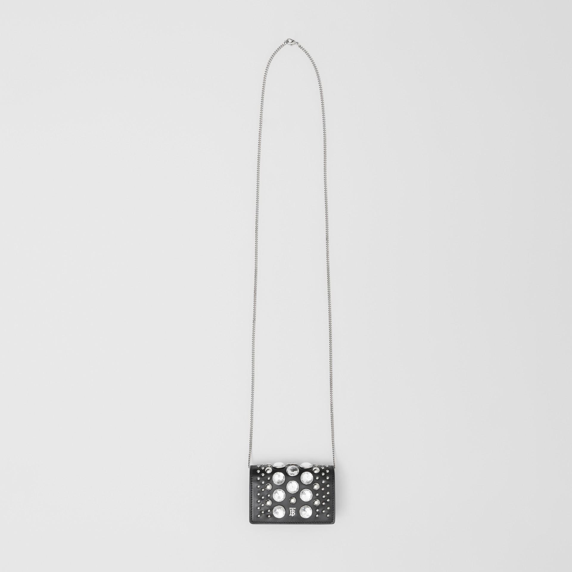 Porte-cartes en cuir avec ornements et sangle amovible (Noir)   Burberry Canada - photo de la galerie 4