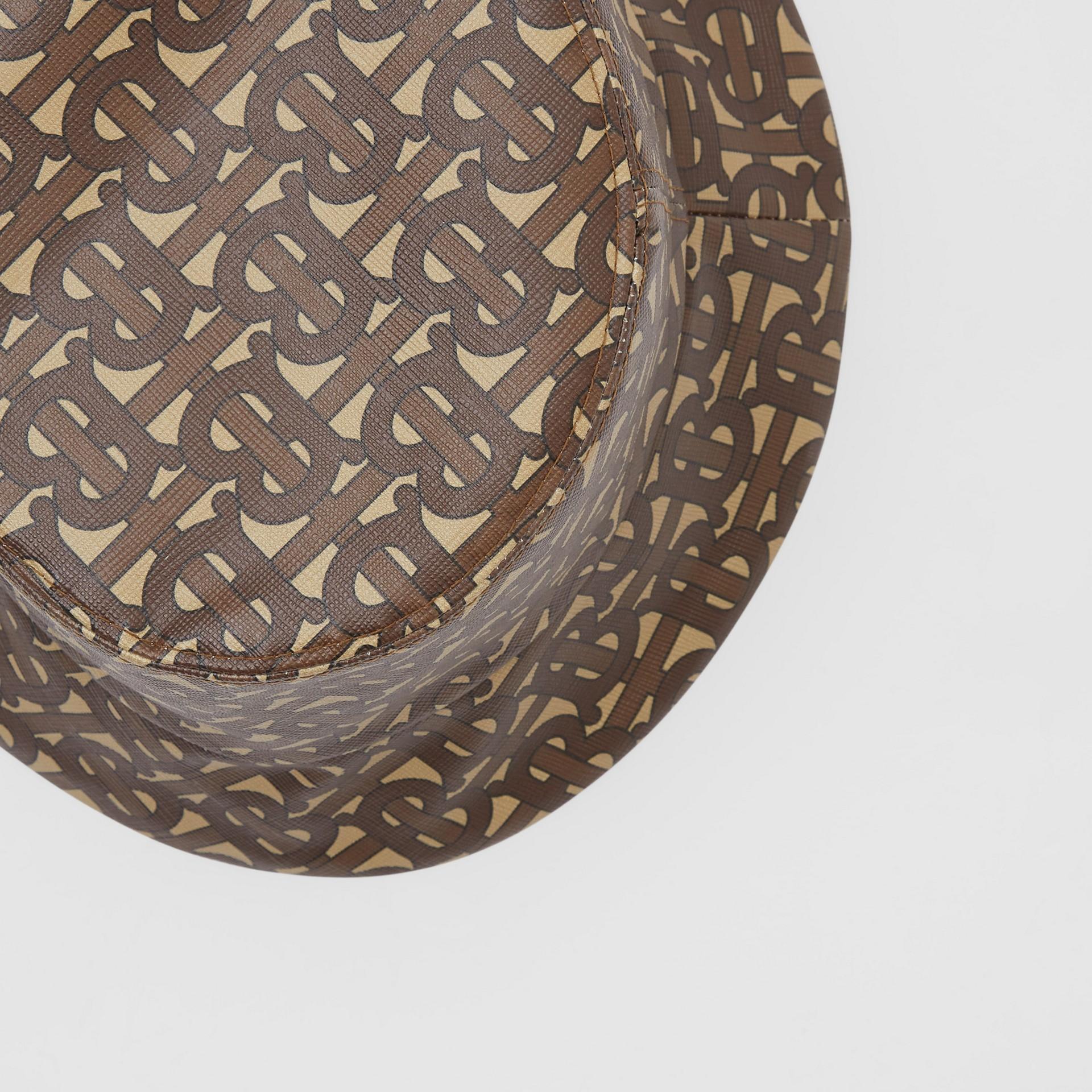 Fischerhut mit Monogrammmuster (Lederbraun) | Burberry - Galerie-Bild 1