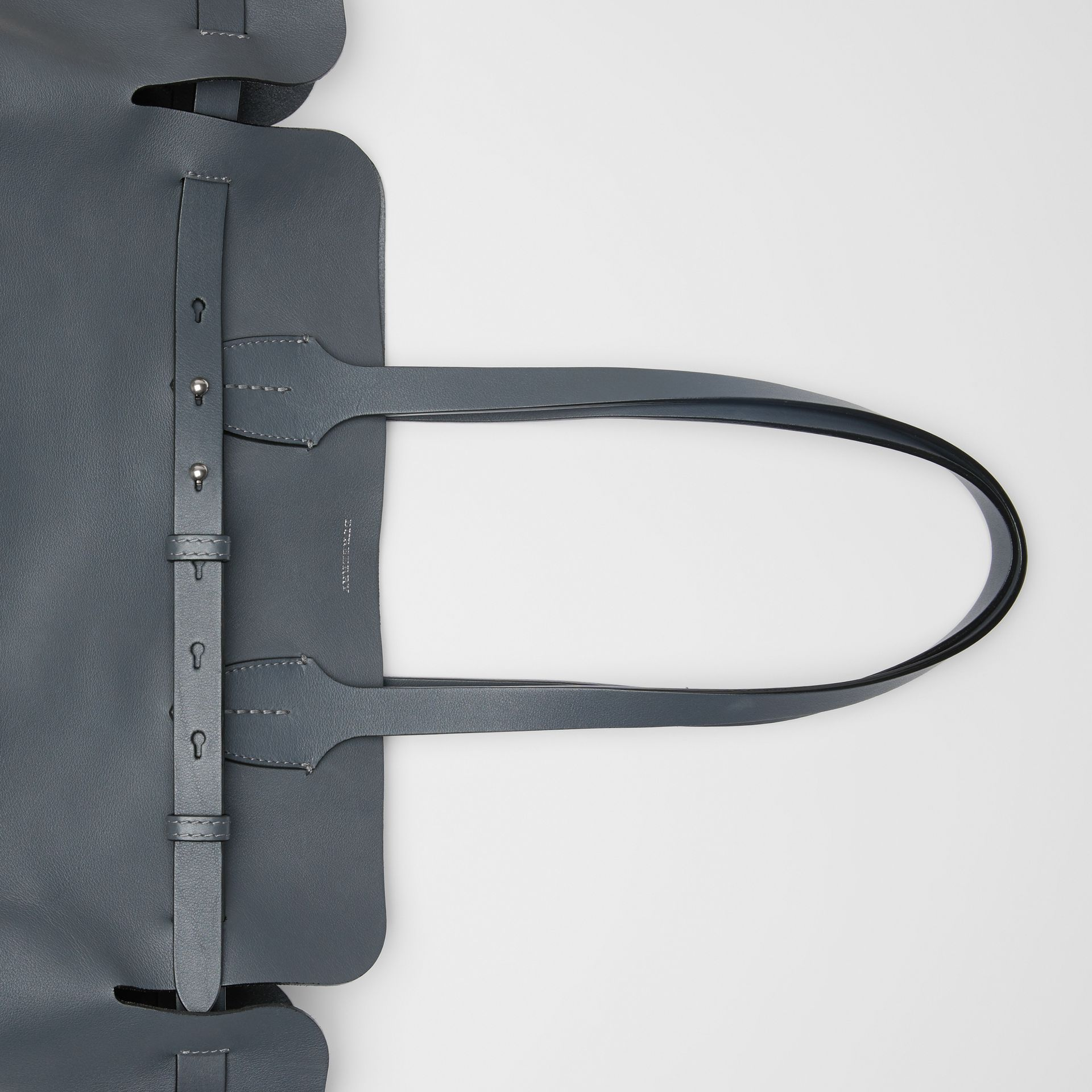 The Medium Soft Leather Belt Bag in Dark Pewter Grey - Women | Burberry - gallery image 1