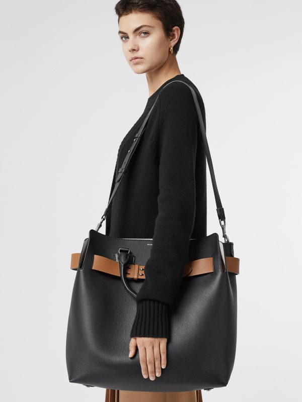 The Large Leather Belt Bag in Black - Women | Burberry - cell image 2
