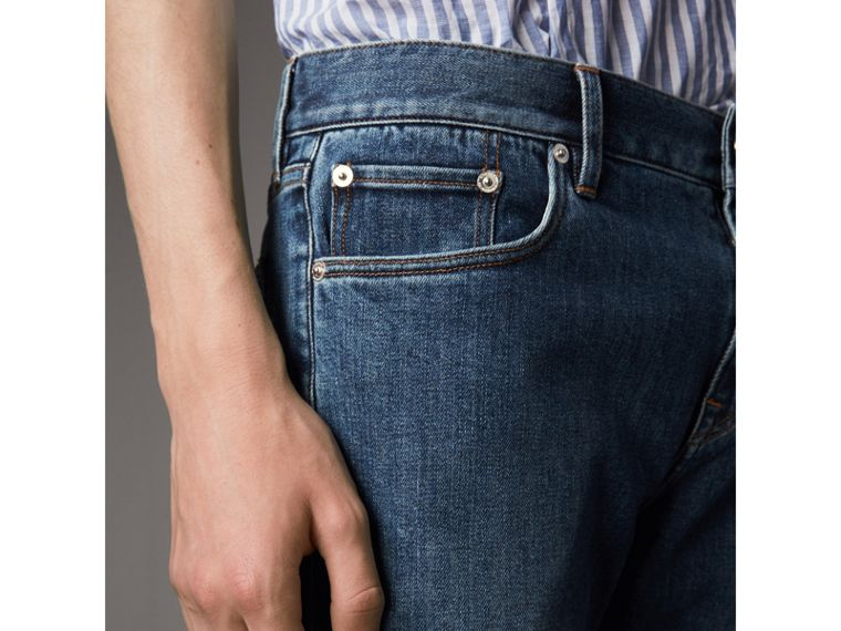 Slim Fit Japanese Denim Jeans - Men | Burberry - cell image 4