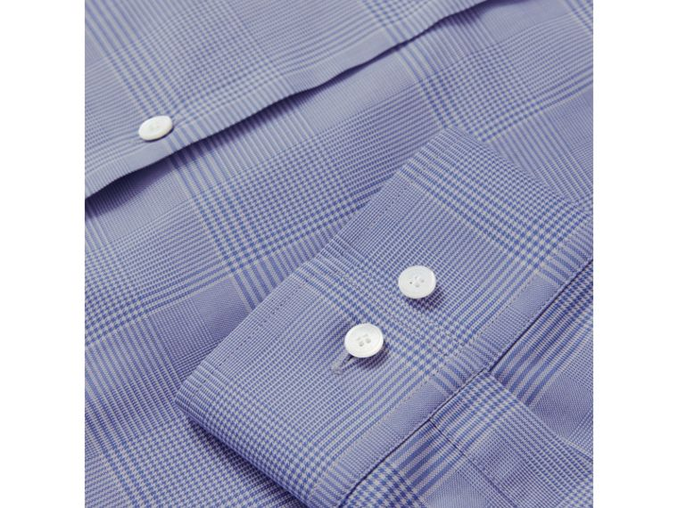 Modern Fit Check Cotton Shirt in City Blue - Men | Burberry United Kingdom - cell image 1