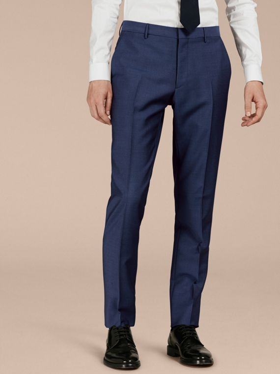 Dark canvas blue Slim Fit Wool Mohair Trousers Dark Canvas Blue - cell image 3
