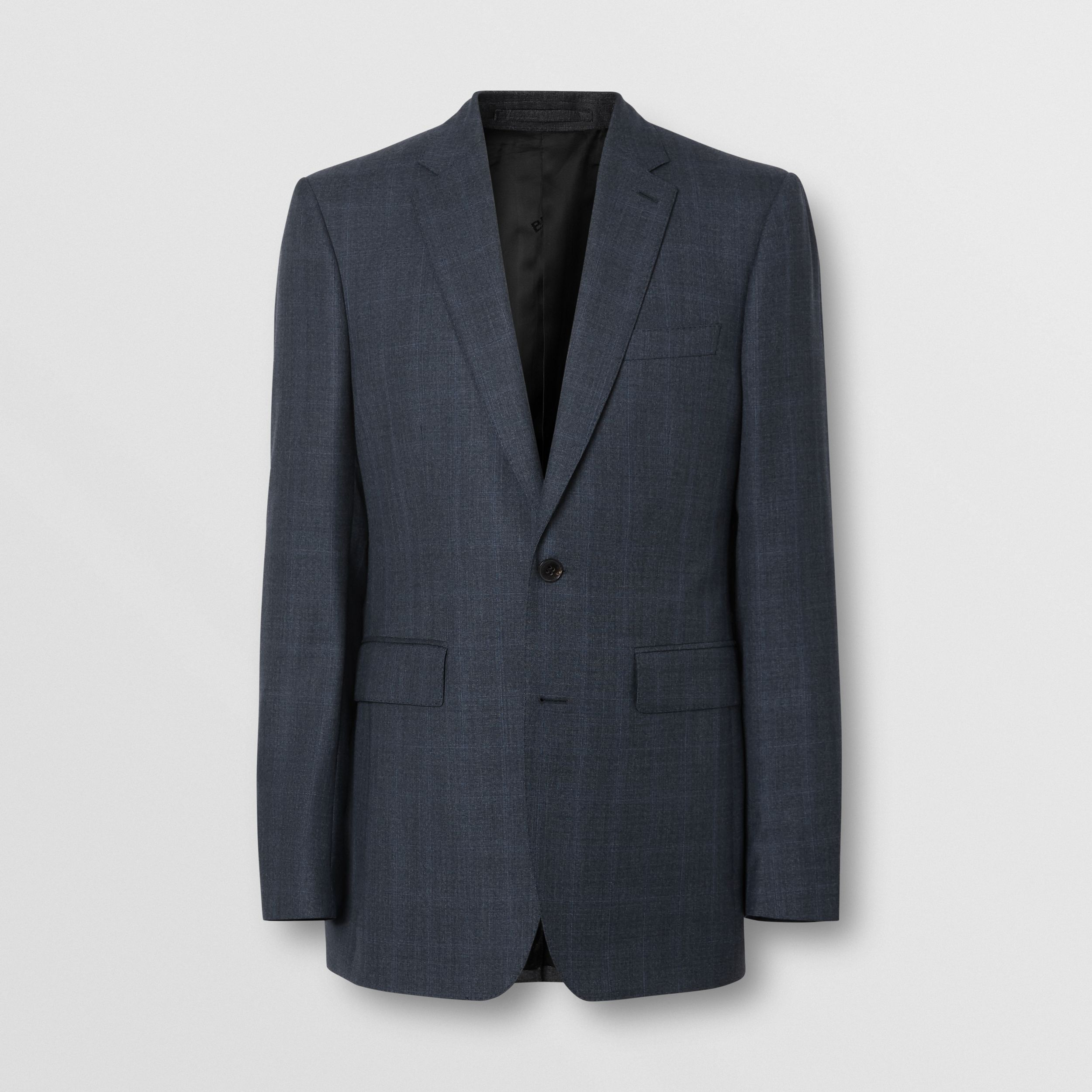 Classic Fit Windowpane Check Wool Suit in Light Navy - Men | Burberry - 4
