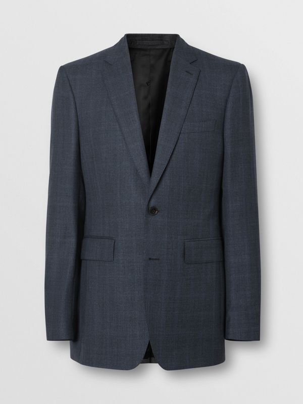 Classic Fit Windowpane Check Wool Suit in Light Navy - Men | Burberry - cell image 3