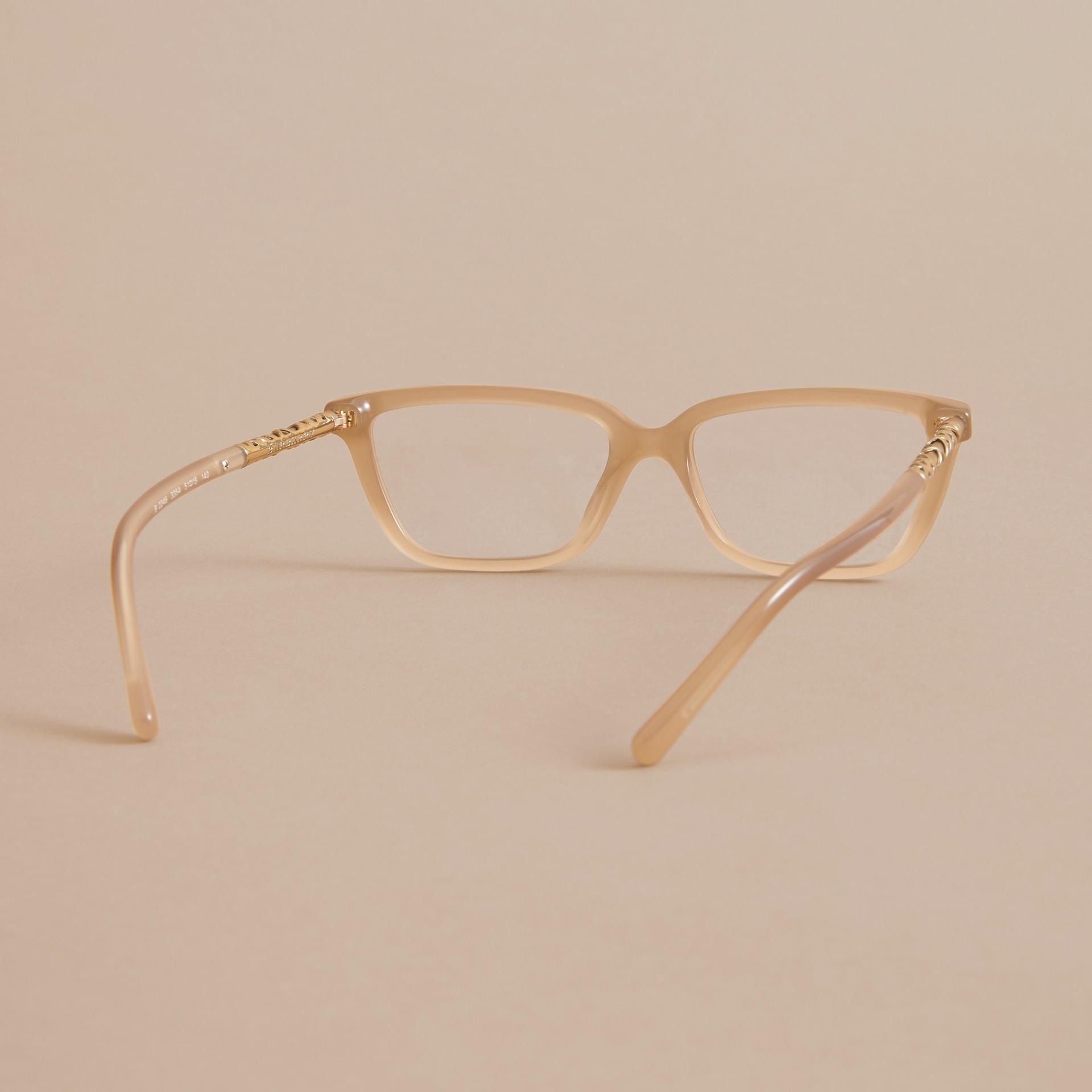 Check Detail Rectangular Cat-eye Optical Frames - gallery image 4