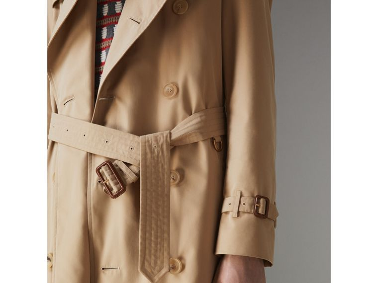 The Long Chelsea Heritage Trench Coat in Honey - Men | Burberry - cell image 4