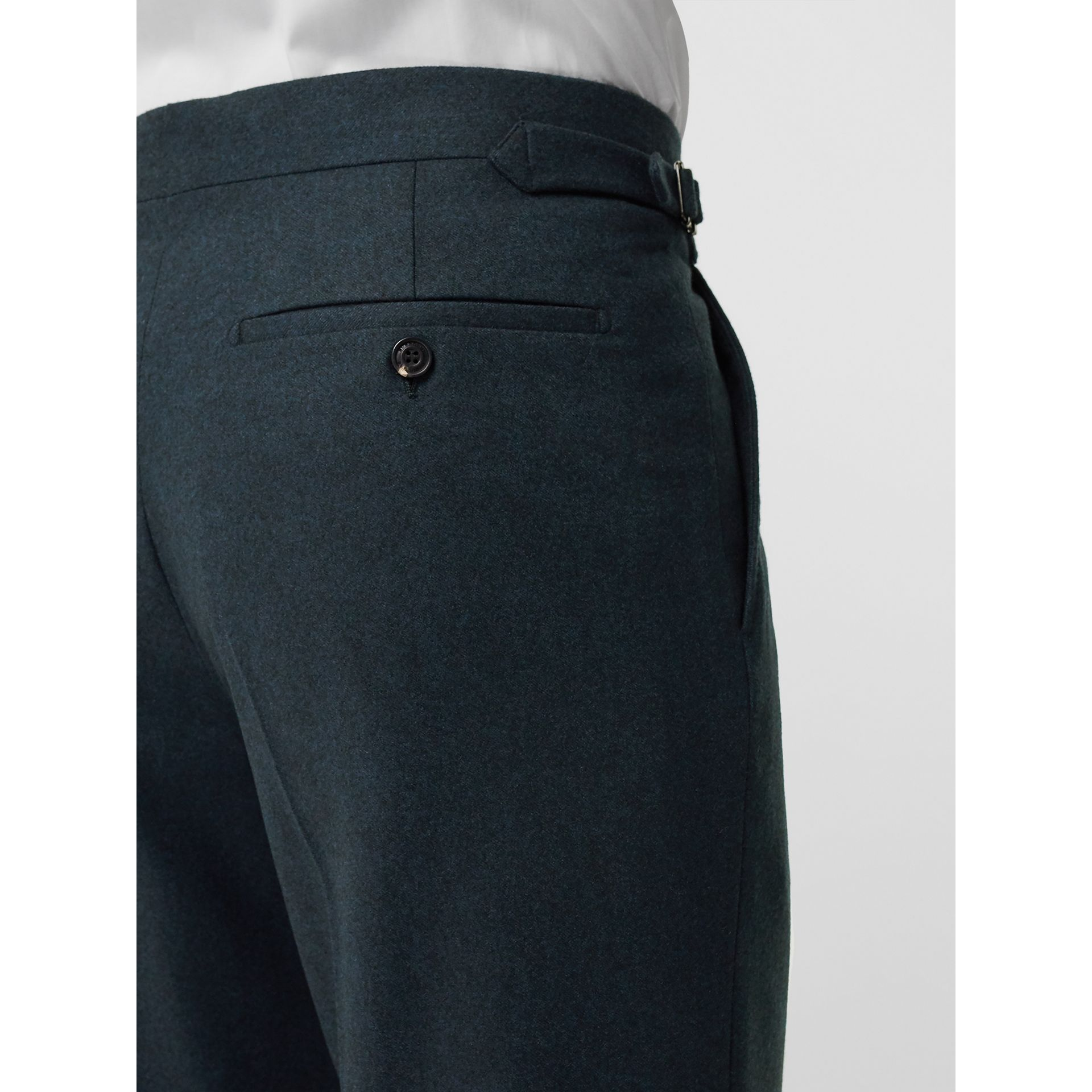 Classic Fit Wool Cashmere Tailored Trousers in Blue - Men | Burberry - gallery image 1